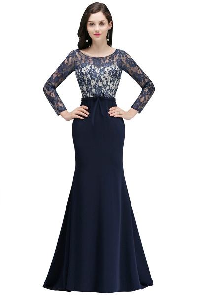 Long Sleeves Satin Mermaid Floor Length Bridesmaid Dress_4
