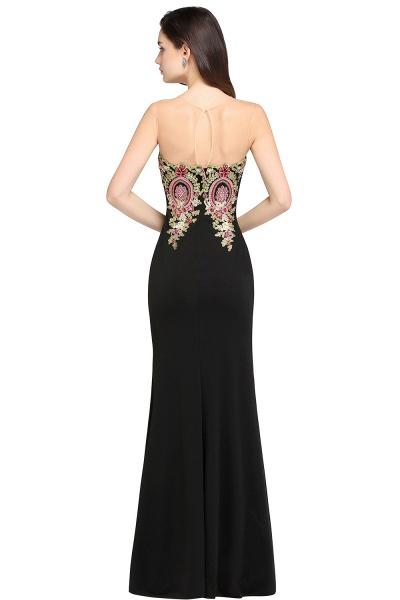 Fascinating Scoop Stretch Satin Column Evening Dress_2
