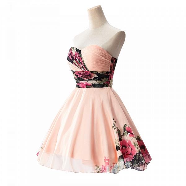 ELENA | A-line Sweetheart Sleeveless Print Ruffles Short Chiffon Prom Dresses_3