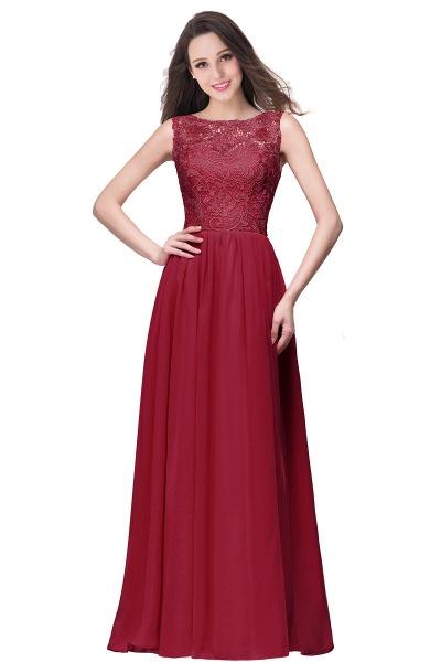 Fascinating Jewel Chiffon A-line Bridesmaid Dress_3
