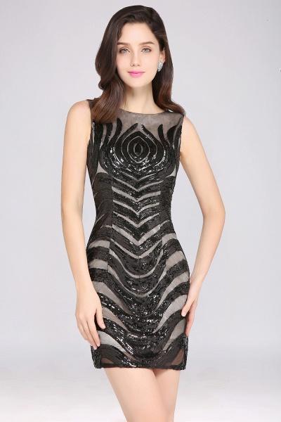 Attractive Scoop Sequined Column Homecoming Dress_7