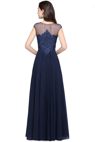 Modest Jewel Chiffon A-line Evening Dress_3