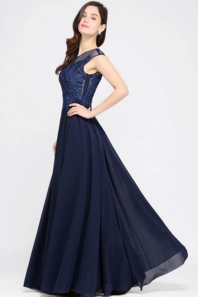 Modest Jewel Chiffon A-line Evening Dress_7