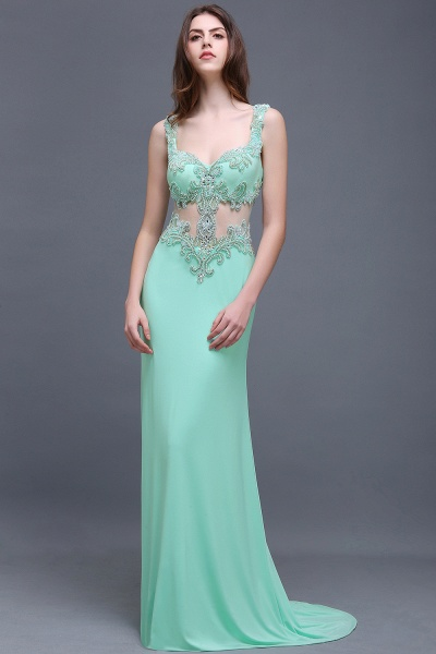 Sleek Straps Chiffon Column Prom Dress_5