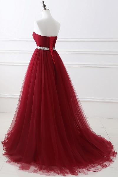 Glorious Strapless Organza A-line Evening Dress_12