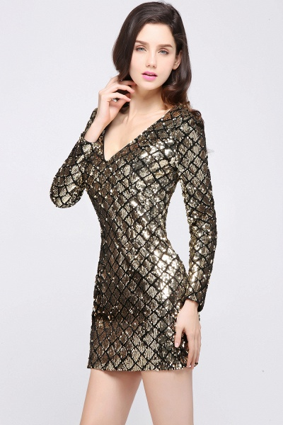 Awesome V-neck Sequined Column Homecoming Dress_6
