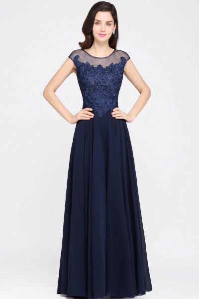 Modest Jewel Chiffon A-line Evening Dress_1