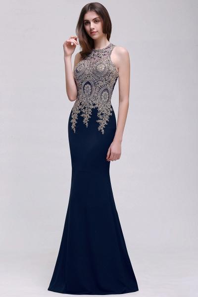Modest Jewel Chiffon Mermaid Prom Dress_3