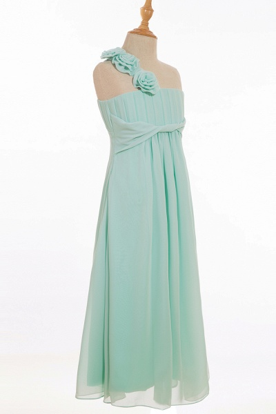 One Shoulder A-line Floor Length Bridesmaid Dress_6
