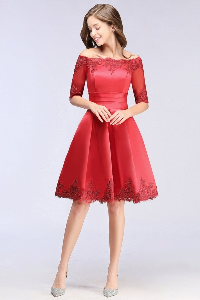 Chic Off-the-shoulder A-line Homecoming Dress_11