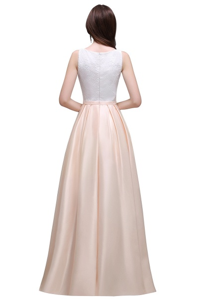 Lace A-line Floor Length Bridesmaid Dress_3