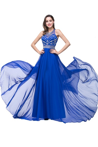Eye-catching Jewel Tulle A-line Evening Dress_10