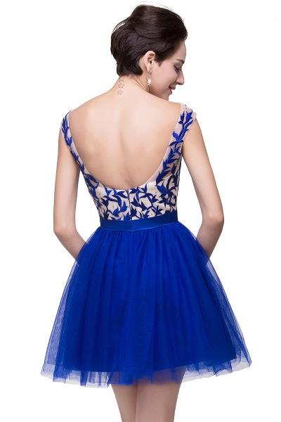 ELIZA | A-line Sleeveless Bateau Short Tulle Appliques Prom Dresses_6