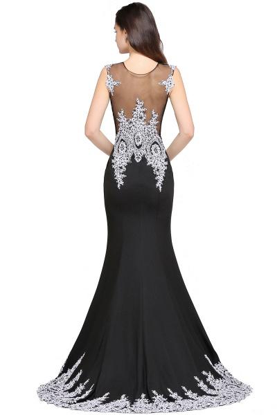 ARIYAH | Mermaid Scoop Black Pretty Evening Dresses with Appliques_4