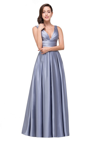 2017 Sexy Evening Gowns Deep V Neck Beaded Pageant Dresses_5