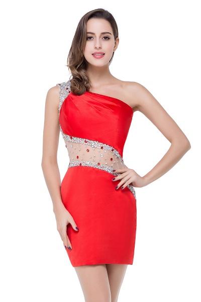 ELLE | Mermaid One-shoulder Short Prom Dresses with Crystal Beadings_6