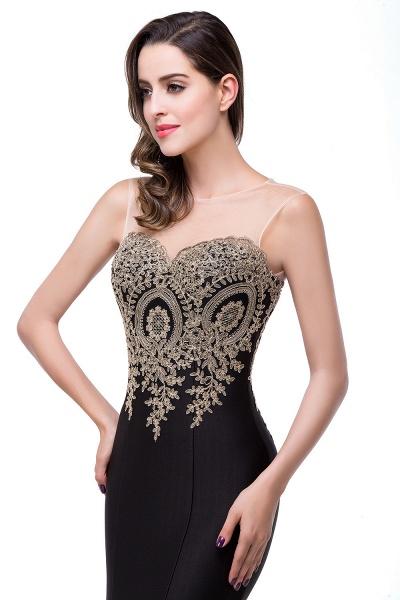 Mermaid Floor-Length Sheer Prom Dresses with Rhinestone Appliques_27