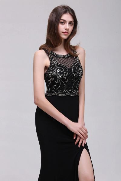 Wonderful Straps Chiffon Column Prom Dress_5