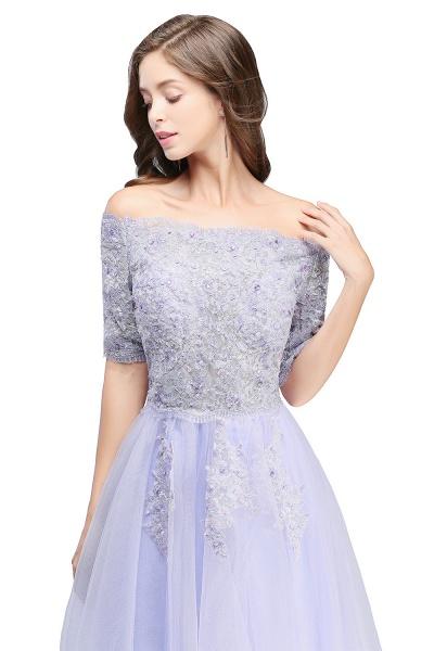 A-line Bateau Tulle Appliques Prom Dress_7