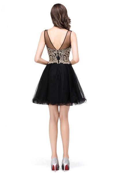 A-line Crew Short Sleeveless Appliques Prom Dress_10