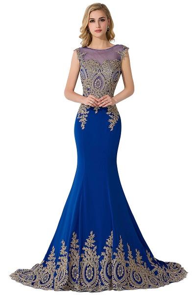 Mermaid Appliques Chiffon Court Train Evening Dress_4