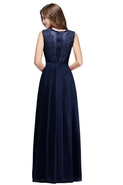 Sheath Crew Sleeveless Floor-length Lace Top Chiffon Bridesmaid Dresses_12