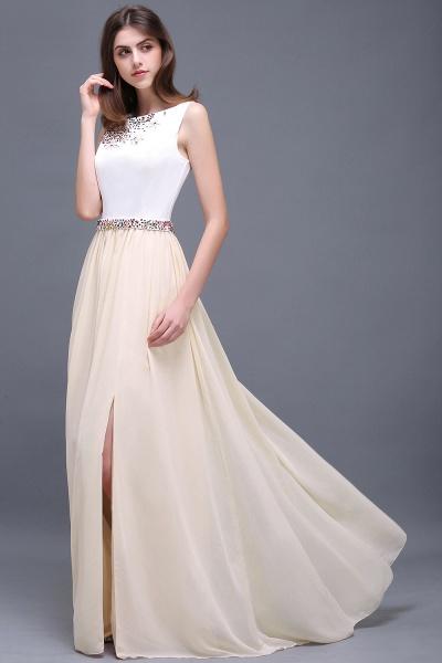 ALAYA   Sheath Jewel White Long Evening Dresses With Beads_6