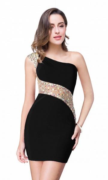 ELLE | Mermaid One-shoulder Short Prom Dresses with Crystal Beadings_5