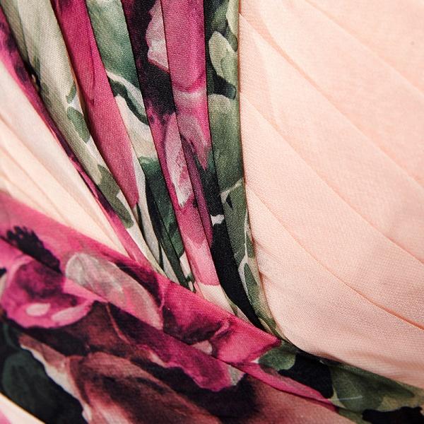 ELENA | A-line Sweetheart Sleeveless Print Ruffles Short Chiffon Prom Dresses_8
