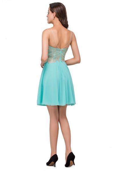 Appliques Elegant Short Sleeveless Chiffon Prom Dresses_3