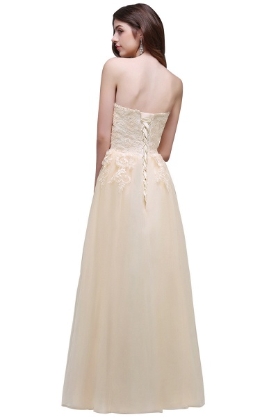 Sweetheart A-line Floor Length Bridesmaid Dress_3