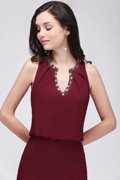 V-neck A-line Floor Length Bridesmaid Dress_6