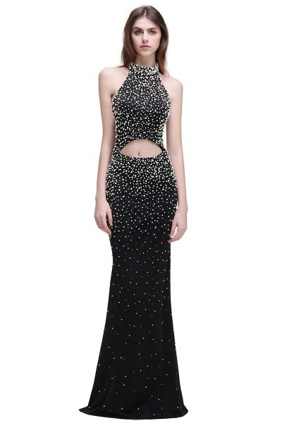 CADENCE | Mermaid Long Black Luxury Prom Dresses with Beading_1