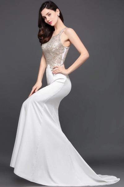 Fascinating Scoop Chiffon Mermaid Prom Dress_7
