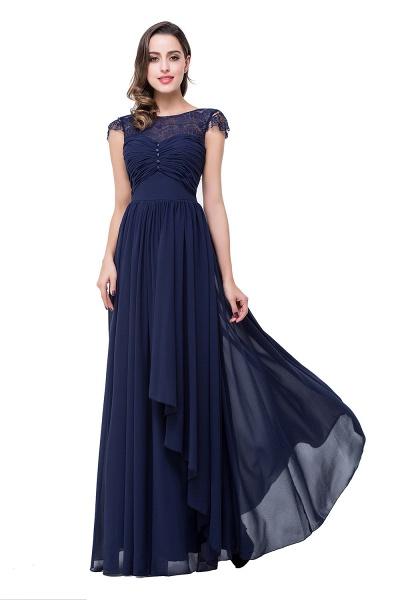 ELLEN   A-line Short Sleeves Chiffon Bridesmaid Dresses with Ribbon Bow_6