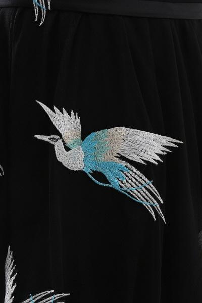 CHARLI | Sheath Round neck Embroidery Long Sleeves Black Prom Dress_5