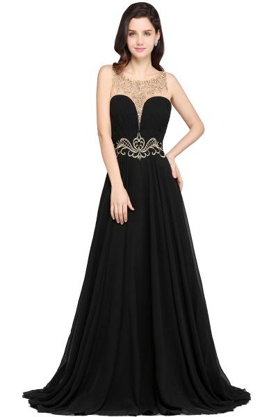 Awesome Jewel Chiffon A-line Evening Dress_1