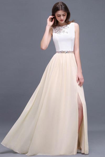 ALAYA   Sheath Jewel White Long Evening Dresses With Beads_2