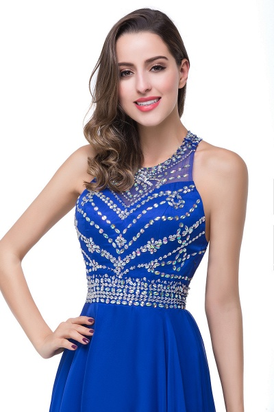 Eye-catching Jewel Tulle A-line Evening Dress_13