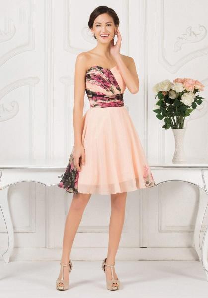 ELENA | A-line Sweetheart Sleeveless Print Ruffles Short Chiffon Prom Dresses_5
