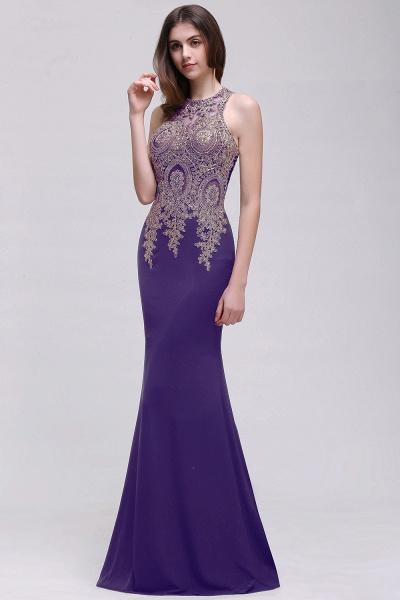 Modest Jewel Chiffon Mermaid Prom Dress_2
