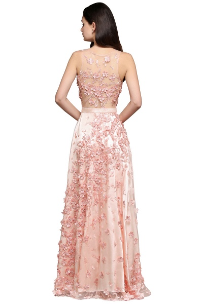 Modest Jewel Stretch Satin A-line Evening Dress_6