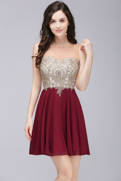ALIANNA | Sheath Jewel Chiffon Short Homecoming Party Dresses With Applique_3