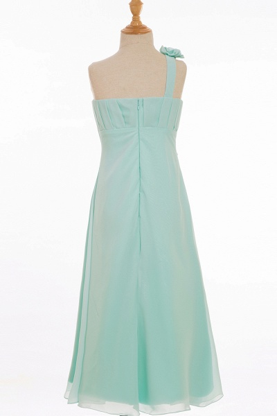 One Shoulder A-line Floor Length Bridesmaid Dress_3