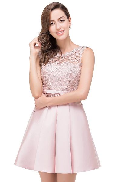A-line Lace Knee-length Satin Homecoming Dress_9