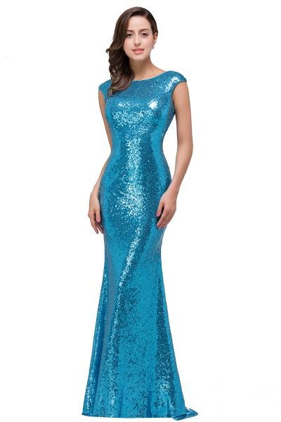 EVELYNN | Mermaid Floor-Length Sleeveless Scoop Sequins Prom Dresses_2