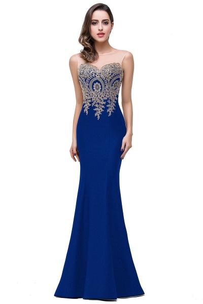 Mermaid Floor-Length Sheer Prom Dresses with Rhinestone Appliques_12
