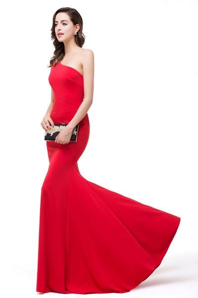 EMMALYN | Mermaid One-Shoulder Floor Length Red Prom Dresses_5