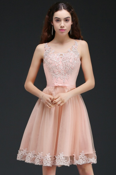 Best Straps Satin A-line Homecoming Dress_5
