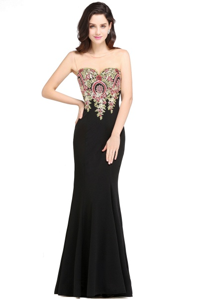 Fascinating Scoop Stretch Satin Column Evening Dress_1